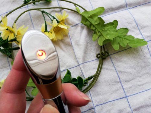 センシア美顔器赤色LEDの部分