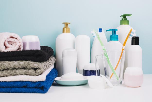 タオルと歯ブラシ
