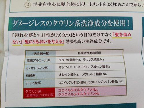 ゴクビプロのタウリン系界面活性剤